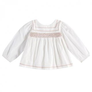 <img class='new_mark_img1' src='https://img.shop-pro.jp/img/new/icons14.gif' style='border:none;display:inline;margin:0px;padding:0px;width:auto;' />Little Cotton Clothes - Charlotte blouse / off-white with clay smocking