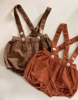 <img class='new_mark_img1' src='https://img.shop-pro.jp/img/new/icons14.gif' style='border:none;display:inline;margin:0px;padding:0px;width:auto;' />Little Cotton Clothes - Hastings bloomer romper / nut velvet, clay velvet