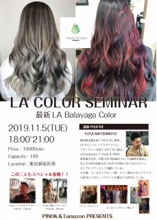 2019年11月5日(火)LA COLOR SEMINAR 最新LA Barayage Color