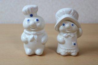 ドゥボーイ&ドゥガール ソルト&ペッパーシェイカー 陶器製