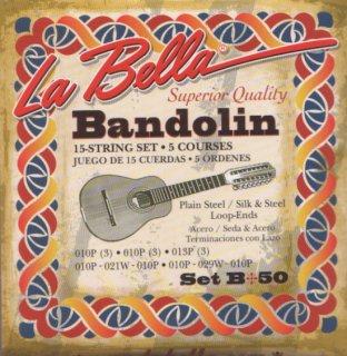 バンドリン・エクアトリアーノ弦セット LA BELLA /  [米国製]