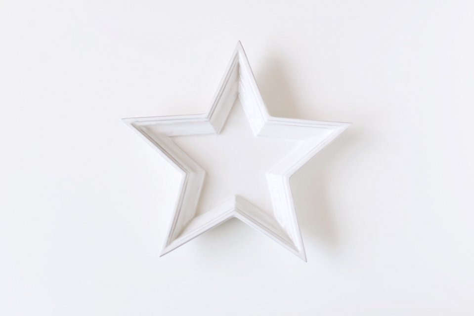 【取り扱い終了】Twinkle Star Plate/ホワイト/Sサイズ