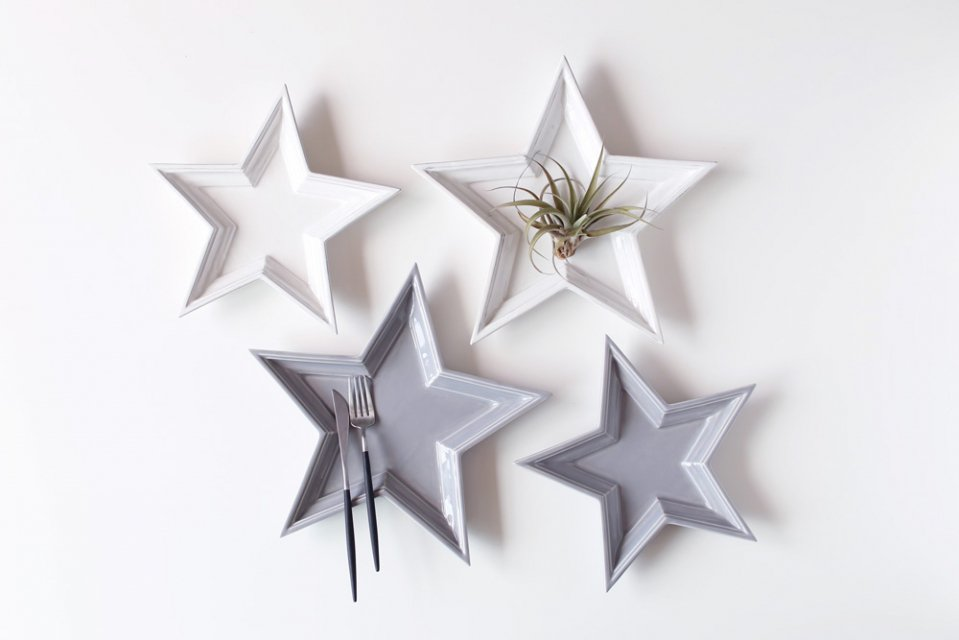 <img class='new_mark_img1' src='//img.shop-pro.jp/img/new/icons20.gif' style='border:none;display:inline;margin:0px;padding:0px;width:auto;' />【30%OFF】Twinkle Star Plate/グレー/Lサイズ