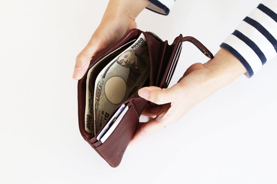 CINQ/2つ折り財布(ダークブラウン)