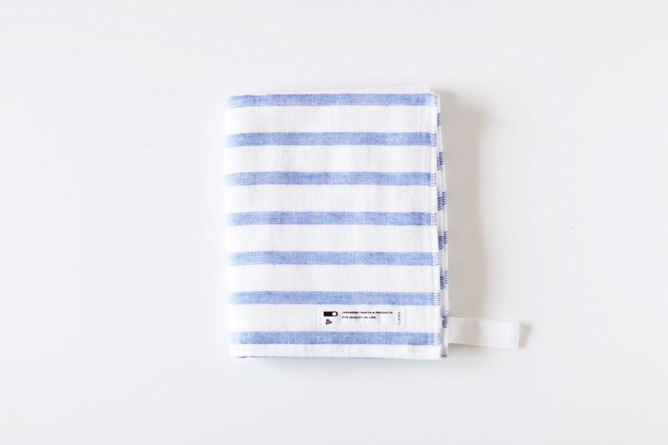 CLASKA/ボーダー/フェイスタオル(ブルー)