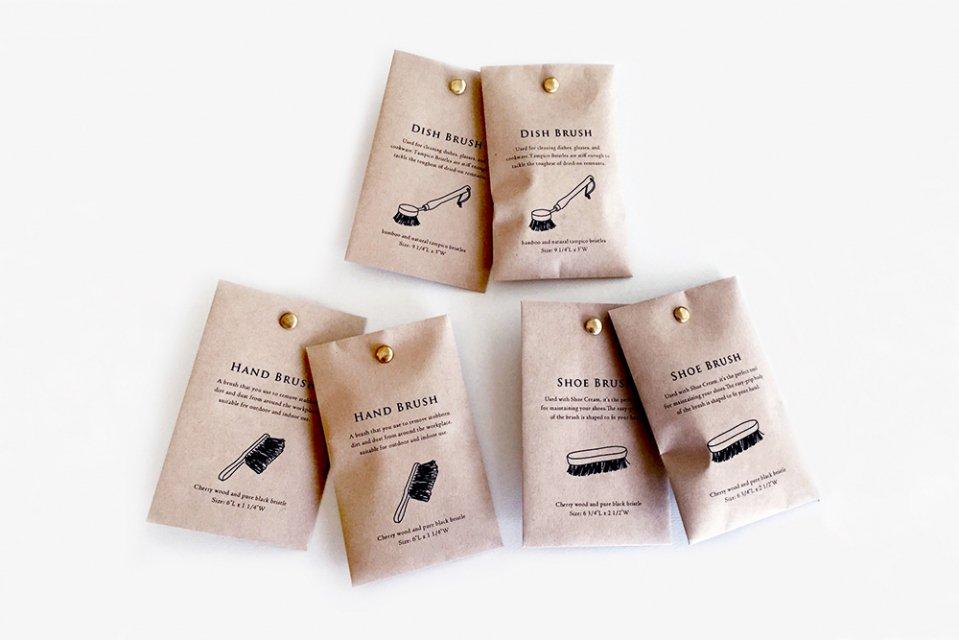 【取り扱い終了】KNOOP/BRUSH/割りピン付きポチ袋(6枚入り)
