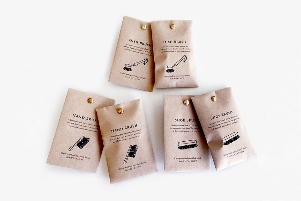 KNOOP/BRUSH/割りピン付きポチ袋(6枚入り)