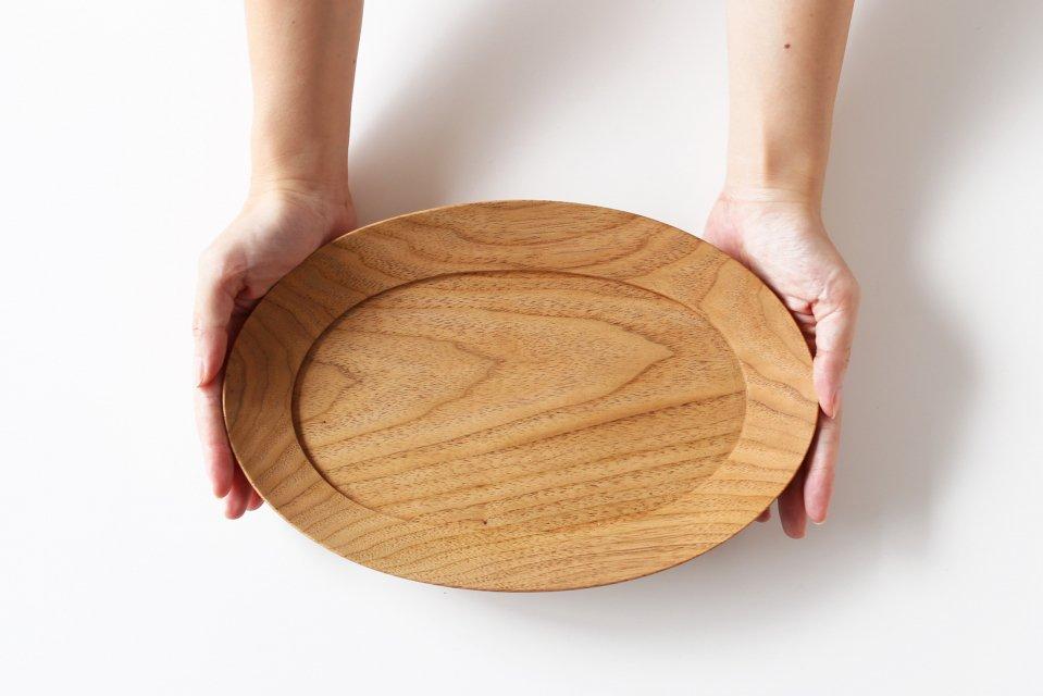 高塚和則/くるみのオーバル皿(28cm)
