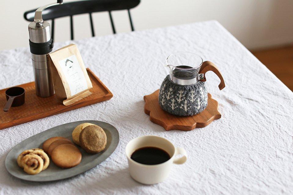 【次回再入荷時期未定】amu./コーヒーコージー/2cup用/森(グレー)