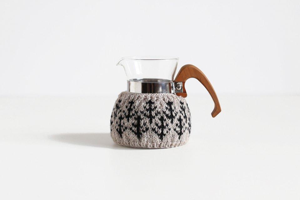 【取り扱い終了】amu./コーヒーコージー/2cup用/森(ベージュ)