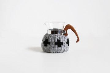 【次回再入荷時期未定】amu./コーヒーコージー/2cup用/クロス(ライトグレー)