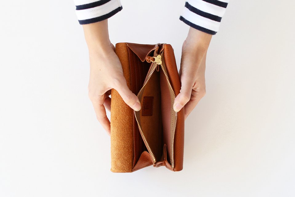 CINQ/長財布(キャメル)