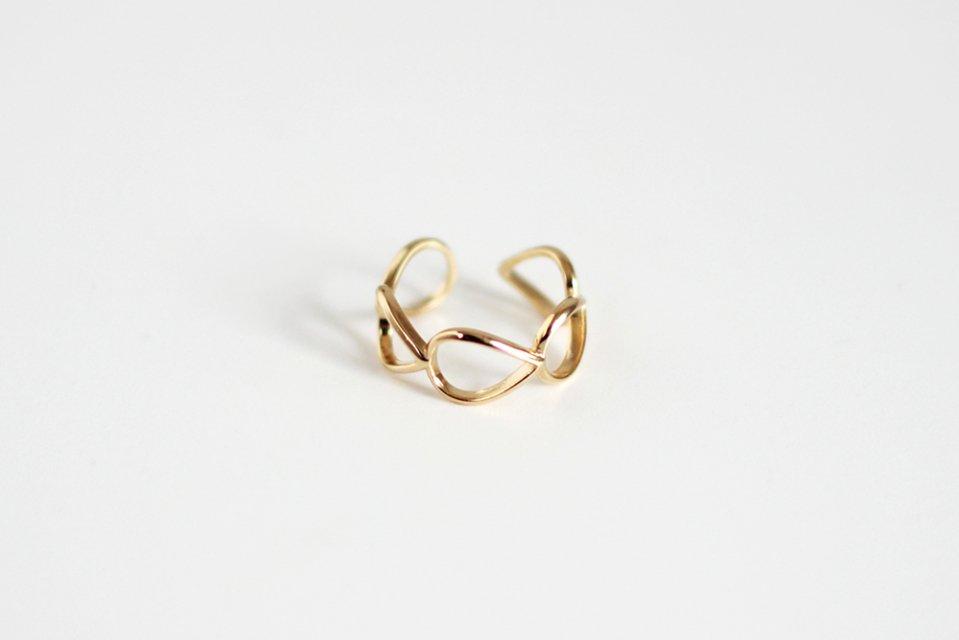 Ouca/Chain/リング/しずく(フリーサイズ)