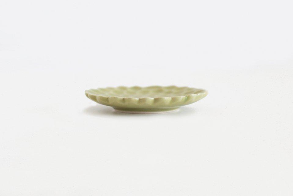 松平彩子/豆皿/黄緑