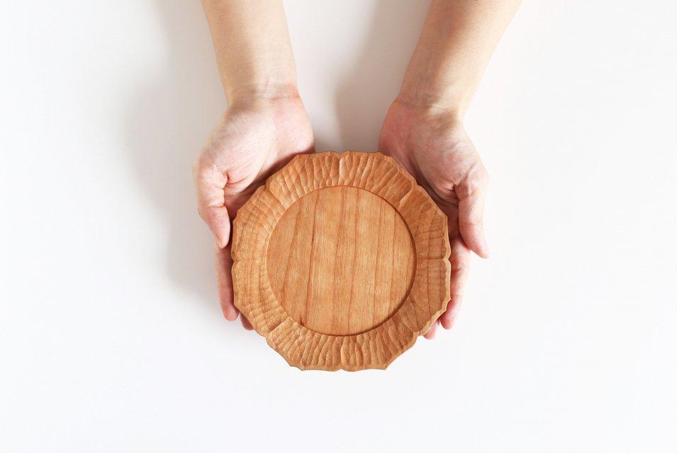 【次回再入荷時期未定】濱端弘太/チェリー/花5寸皿(直径15cm)