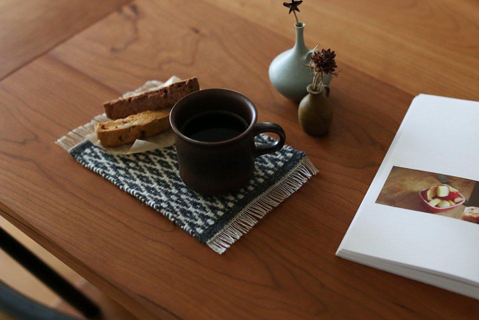 かわちせつこ/ローゼンゴング織りのポットマット(グレー)