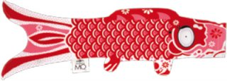 【25%OFF】Madame Mo「KOINOBORI (Joyful Red)」