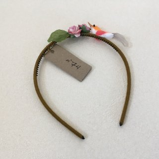Numero74「Bird Headband (Orange-Red-Grey)」