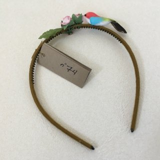 Numero74「Bird Headband (Red-Lightblue-Yellow-Black)」