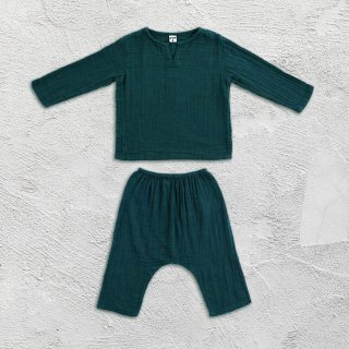 Numero74「Zac Suit Shirt & Pants (Teal Blue)」