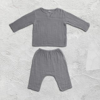 Numero74「Zac Suit Shirt & Pants (Silver Grey)」