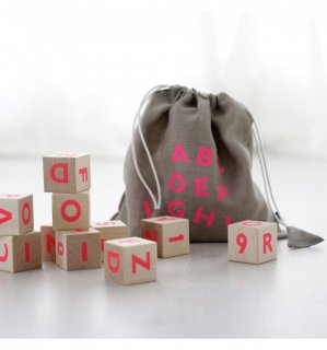 ooh noo「Alphabet Blocks Pink」