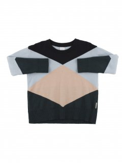 <img class='new_mark_img1' src='//img.shop-pro.jp/img/new/icons23.gif' style='border:none;display:inline;margin:0px;padding:0px;width:auto;' />【40%OFF】tinycottons「geometric sweater(dark navy / light blue / nude / dark green) 12m-18m-2y」2017-AW