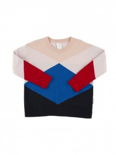 <img class='new_mark_img1' src='//img.shop-pro.jp/img/new/icons23.gif' style='border:none;display:inline;margin:0px;padding:0px;width:auto;' />【40%OFF】tinycottons「geometric sweater(nude / light pink / blue / dark navy / red) 12m-18m-2y」2017-AW