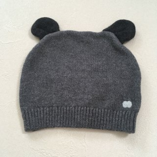 <img class='new_mark_img1' src='//img.shop-pro.jp/img/new/icons16.gif' style='border:none;display:inline;margin:0px;padding:0px;width:auto;' />【30%OFF】The Bonnie Mob「Knitted Hat with Ears (Dark Grey) 12m-24m」2017-AW