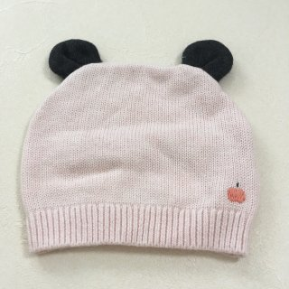 <img class='new_mark_img1' src='//img.shop-pro.jp/img/new/icons23.gif' style='border:none;display:inline;margin:0px;padding:0px;width:auto;' />【40%OFF】The Bonnie Mob「Knitted Hat with Ears (Pale Pink) 12m-24m」2017-AW