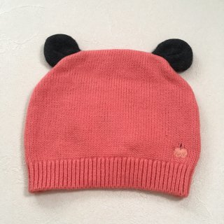 <img class='new_mark_img1' src='//img.shop-pro.jp/img/new/icons16.gif' style='border:none;display:inline;margin:0px;padding:0px;width:auto;' />【30%OFF】The Bonnie Mob「Knitted Hat with Ears (Sorbet) 12m-24m」2017-AW