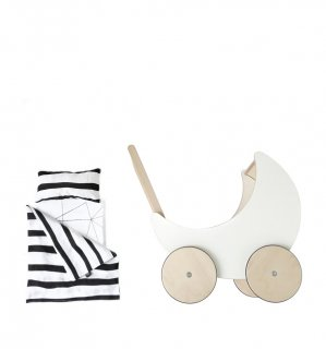 ooh noo「Toy Pram Bedding (Zebra)」