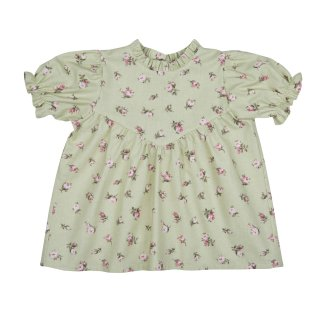 <img class='new_mark_img1' src='//img.shop-pro.jp/img/new/icons14.gif' style='border:none;display:inline;margin:0px;padding:0px;width:auto;' />【30%OFF】bebe organic「Diane blouse (Green roses) 18m 2y」2018-SS