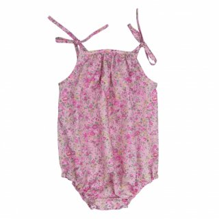 <img class='new_mark_img1' src='//img.shop-pro.jp/img/new/icons23.gif' style='border:none;display:inline;margin:0px;padding:0px;width:auto;' />【30%OFF】bebe organic「Amina romper (Liberty pink) 12m 18m」2018-SS