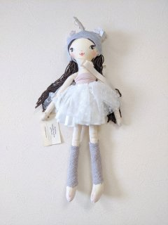 These Little Treasures「Small Lola Doll - Little Unicorn (Brunette)」