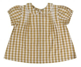 <img class='new_mark_img1' src='//img.shop-pro.jp/img/new/icons23.gif' style='border:none;display:inline;margin:0px;padding:0px;width:auto;' />【10%OFF】Little Cotton Clothes「Mabel Blouse (Mastard GIngham) 12m-18m-2y-3y-4y」2018-SS
