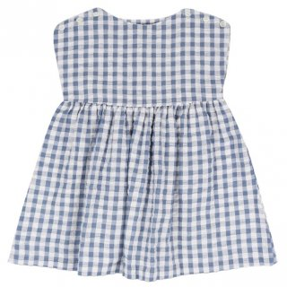 <img class='new_mark_img1' src='//img.shop-pro.jp/img/new/icons23.gif' style='border:none;display:inline;margin:0px;padding:0px;width:auto;' />【10%OFF】Little Cotton Clothes「Rosie Dress (Blue Gingham Seersucker) 18m-2y-3y-4y」2018-SS