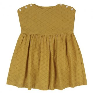 <img class='new_mark_img1' src='//img.shop-pro.jp/img/new/icons14.gif' style='border:none;display:inline;margin:0px;padding:0px;width:auto;' />Little Cotton Clothes「Lace Rosie Dress (Mustard) 18m-2y-3y-4y」2018-SS