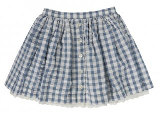 <img class='new_mark_img1' src='//img.shop-pro.jp/img/new/icons14.gif' style='border:none;display:inline;margin:0px;padding:0px;width:auto;' />Little Cotton Clothes「Salcombe Skirt (Blue Gingham Seersucker) 2y-3y-4y」2018-SS