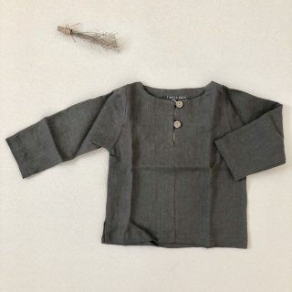 <img class='new_mark_img1' src='//img.shop-pro.jp/img/new/icons14.gif' style='border:none;display:inline;margin:0px;padding:0px;width:auto;' />Simply Grey Life「Kids linen top with buttons (chocolate) 18m-2y-3y-4y」