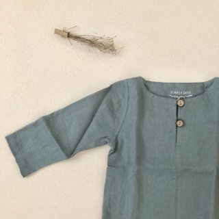 <img class='new_mark_img1' src='//img.shop-pro.jp/img/new/icons14.gif' style='border:none;display:inline;margin:0px;padding:0px;width:auto;' />Simply Grey Life「Kids linen top with buttons (mild grey) 18m-2y-3y-4y」