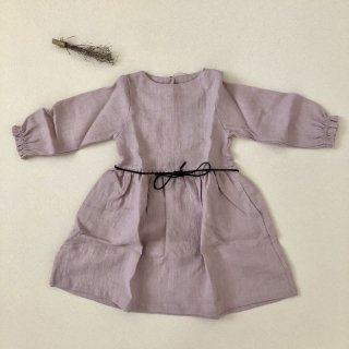 <img class='new_mark_img1' src='//img.shop-pro.jp/img/new/icons14.gif' style='border:none;display:inline;margin:0px;padding:0px;width:auto;' />Simply Grey Life「Girl's linen dress puf sleeves with belt (dusty pink) 18m-2y-3y-4y」