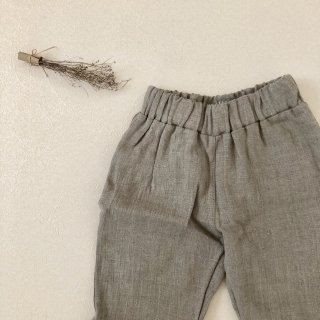 <img class='new_mark_img1' src='//img.shop-pro.jp/img/new/icons14.gif' style='border:none;display:inline;margin:0px;padding:0px;width:auto;' />Simply Grey Life「Kid's linen trousers with pockets (natural) 18m-2y-3y-4y」
