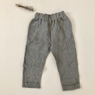 <img class='new_mark_img1' src='//img.shop-pro.jp/img/new/icons14.gif' style='border:none;display:inline;margin:0px;padding:0px;width:auto;' />Simply Grey Life「Kid's linen trousers with pockets (stripes) 18m-2y-3y-4y」