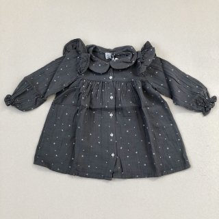 <img class='new_mark_img1' src='//img.shop-pro.jp/img/new/icons14.gif' style='border:none;display:inline;margin:0px;padding:0px;width:auto;' />tocoto vintage「Baby Stars Dress (Grey) 18m 2y」2018-AW