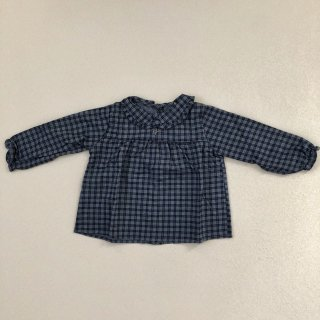 <img class='new_mark_img1' src='//img.shop-pro.jp/img/new/icons14.gif' style='border:none;display:inline;margin:0px;padding:0px;width:auto;' />tocoto vintage「Checkered Baby Blouse (Blue) 18m 2y」2018-AW