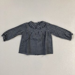 <img class='new_mark_img1' src='//img.shop-pro.jp/img/new/icons14.gif' style='border:none;display:inline;margin:0px;padding:0px;width:auto;' />tocoto vintage「Checkered Baby Blouse (Grey) 18m 2y」2018-AW