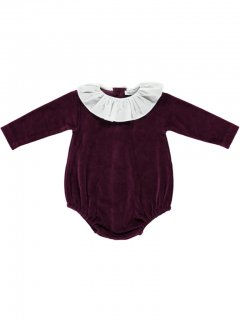 <img class='new_mark_img1' src='//img.shop-pro.jp/img/new/icons23.gif' style='border:none;display:inline;margin:0px;padding:0px;width:auto;' />【30%OFF】bebe organic「Rosie romper (Maroon) 12m 18m」2018-AW