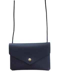 <img class='new_mark_img1' src='//img.shop-pro.jp/img/new/icons23.gif' style='border:none;display:inline;margin:0px;padding:0px;width:auto;' />【30%OFF】Little Cotton Clothes「Leather Envelope Purse (Charcoal)」2018-AW