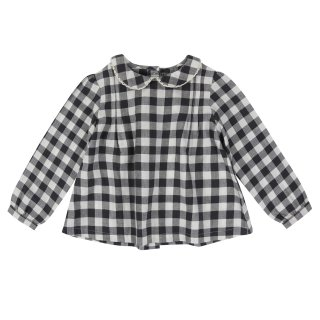 <img class='new_mark_img1' src='//img.shop-pro.jp/img/new/icons56.gif' style='border:none;display:inline;margin:0px;padding:0px;width:auto;' />Little Cotton Clothes「Wendy Blouse (Charcoal Gingham) 12m-18m-2y-3y-4y」2018-AW